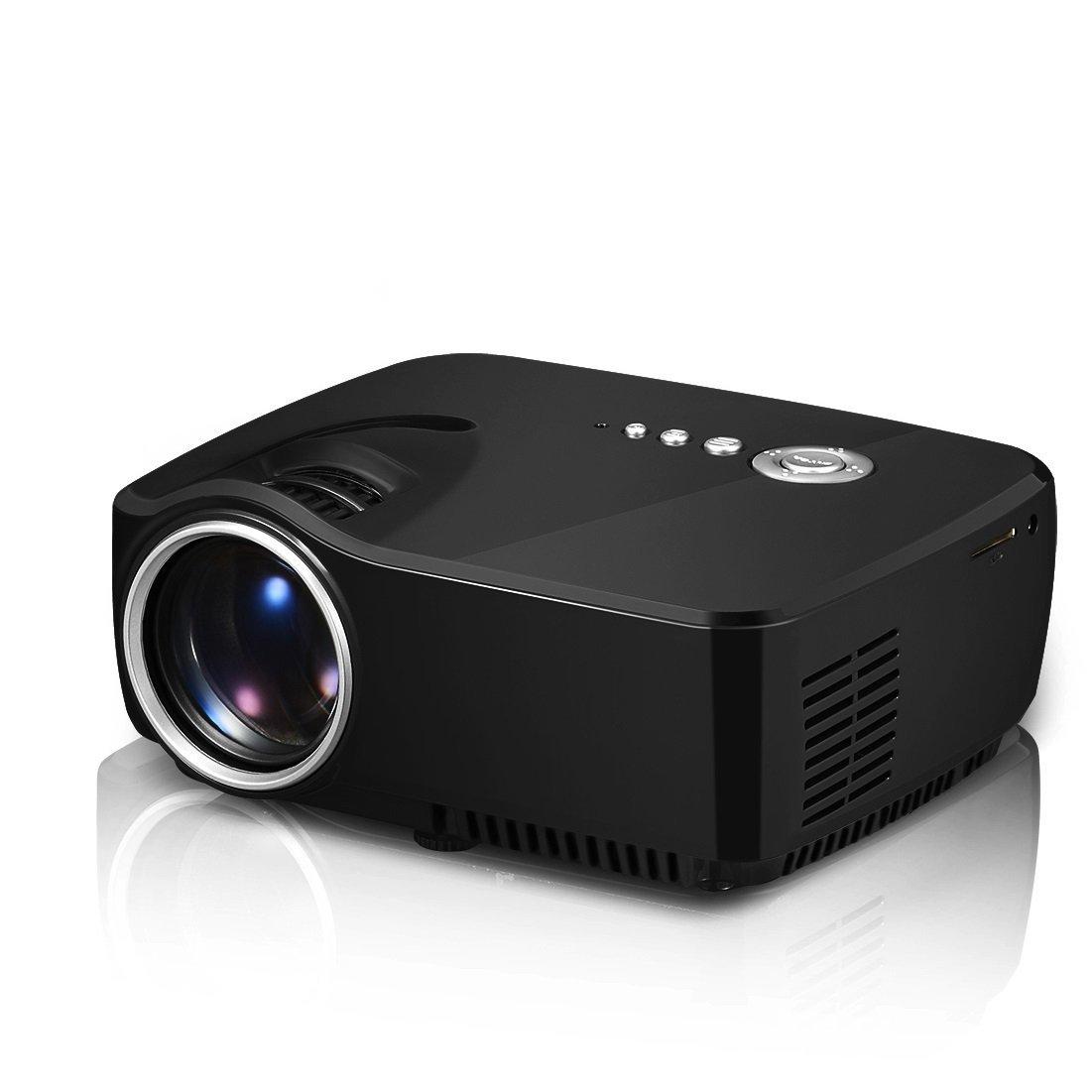 Mới ourspop Portable mini 1080 p dẫn máy gia đình Theater rạp chiếu bóng, màu đen (op-up70)