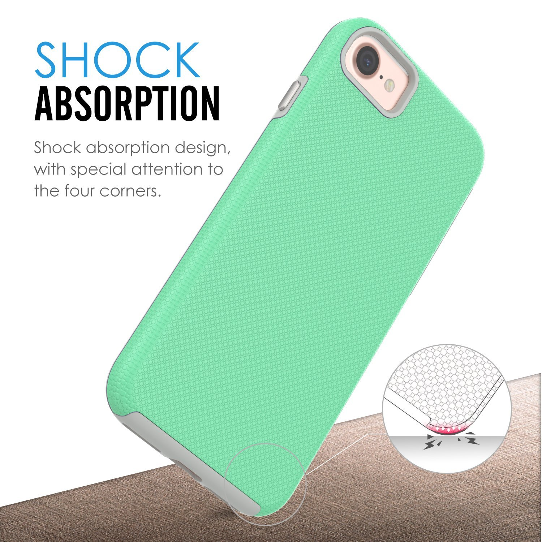MoKo Mỹ MoKo Apple iPhone vỏ điện thoại di động iPhone7 8 bộ bảo vệ vỏ trơn nhỉ chuỗi combo kháng ch