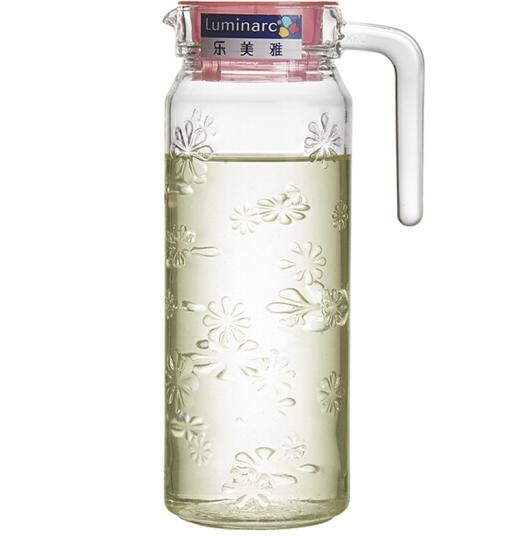Luminarc Le Luminarc chạm nổi không chì kính bình cốc uống nước lạnh sáng tạo đưa xây 1 lít nước ấm,