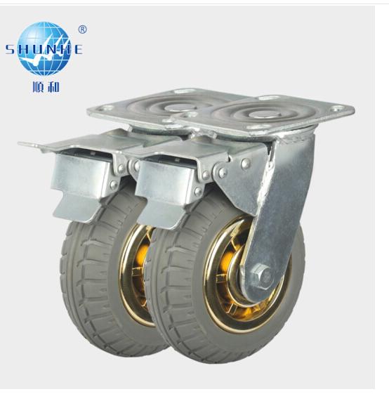 shunhe Khác 6 inch vòng bánh xe cao su câm Hiệp định hướng công nghiệp nặng Caster bánh xe bánh xe đ