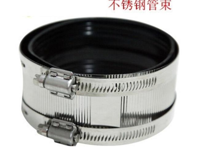 BUBUNIU Sắt Thép không gỉ kềm chế tổng thành clip thoát nước giao diện gang tính dẻo đai 2 inch (DN5