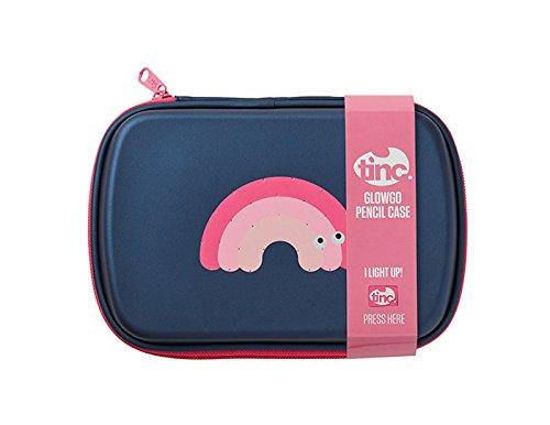 TINC glopcnvp glow-go sáng LED bền multi-compartment hộp bút chì màu hồng xanh / the * * * *