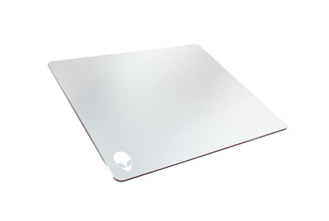 Alienware Người ngoài hành tinh Alienware Mousepad nhôm kim loại tấm đệm bàn chơi Mousepad cả bề mặt