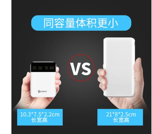 Viken sạc điện báu vật di chuyển nhanh sạc điện thoại nhỏ Mini 10.000 ma chung OPPOR11S Huawei Apple