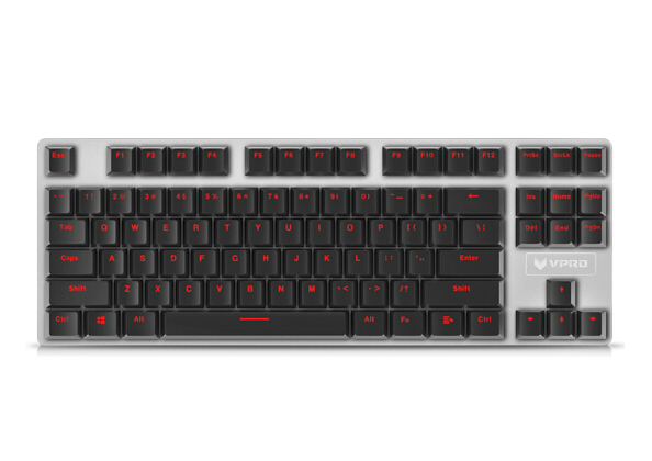 Rapoo (Rapoo) V500 chơi trò chơi trên bàn phím trên bàn phím máy. Phiên bản kim loại bàn phím trên b