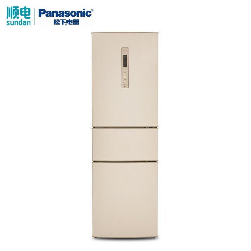 Panasonic Panasonic NR-C320WP-N ba cửa tủ lạnh gia dụng thay đổi tần số không có kem ba cửa câm màu