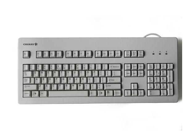CHERRY Cherry (Cherry) G80-3000LSCEU-0 trò chơi bàn phím máy văn phòng màu trắng thanh trục