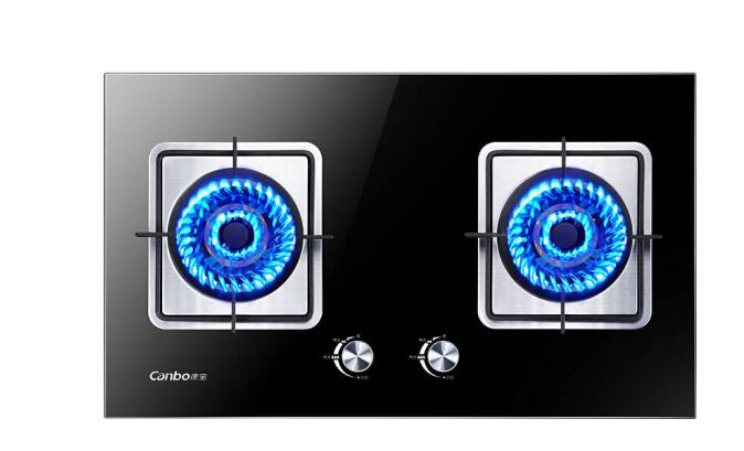 Canbo (Canbo) kính chống đạn gas bếp gas nhúng đôi bàn khảm (hóa lỏng khí 20Y) JZY-2QB506 kép