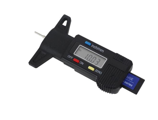 MINZHILANG Số đo điện tử bo mạch đồ Lốp lốp xe, sâu feet thước cặp nhiệt kế đo độ sâu 0-25mm lốp (đe