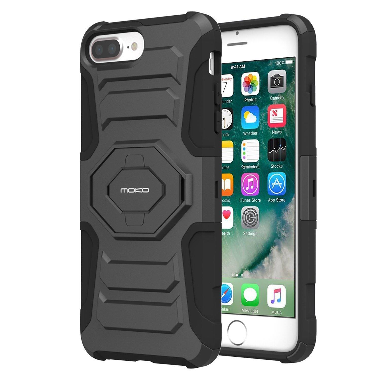 MoKo Mỹ MoKo Apple iPhone 8 Plus vỏ điện thoại di động iPhone7 Plus bộ vỏ giáp bảo vệ Ba đưa lưng đi