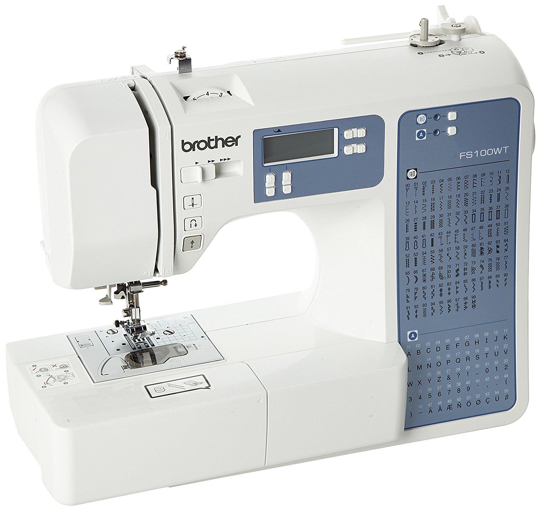 Brother fs100wt miễn phí vận động thêu thùa / May và quilting Machine, màu trắng.