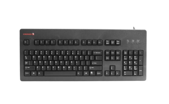 CHERRY Cherry (Cherry) G80-3494LYCUS-2 bàn phím máy trò chơi tại trục đen đỏ.