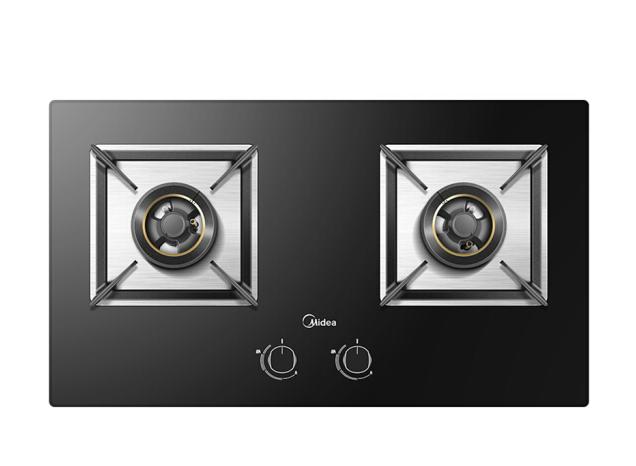 Midea Mỹ (Midea) kính chống đạn gas đại hỏa lực một đôi bàn bếp gas kép nhúng khảm (GA) JZT-Q370B