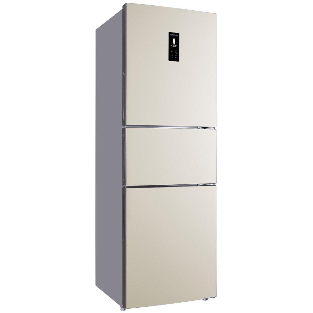MeiLing BCD-253WP3C 253 lên thay đổi tần số ba cửa tủ lạnh tự động rã đông một vàng hồng