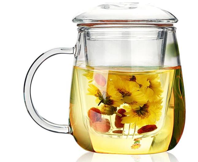RELEA Sinh vật /RELEA ly ly trà nhiệt mang kính lọc nấm tách 500ML