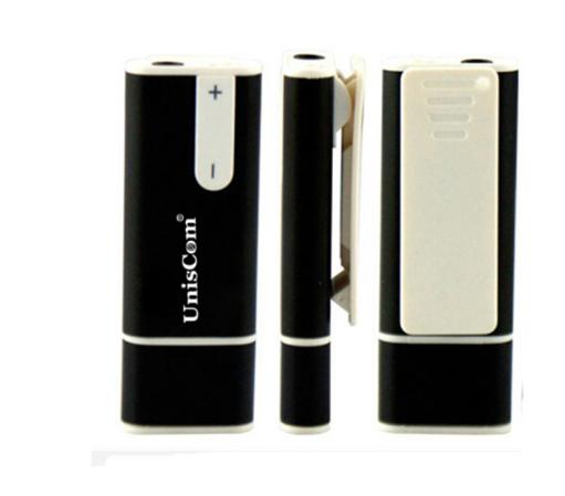 Uniscom Uniscom bút ghi âm nhỏ chờ thời học sinh lớp phóng viên lâu dài, móc túi bút ghi âm 8g đen.