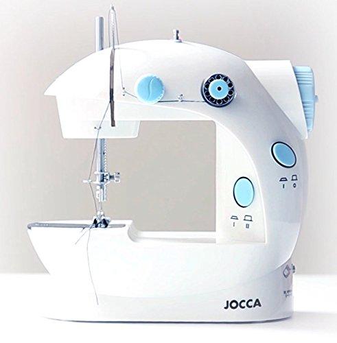 Jocca Electric small máy khâu đưa đôi nối, 4 xi - lanh chiếc và Kim;, màu trắng, 19.7 x 11.6 x 19.2