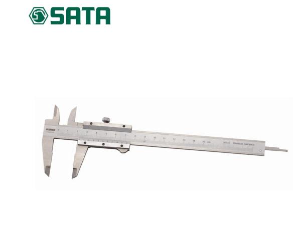 SATA Công cụ máy bằng thép không gỉ dụng cụ đo độ sâu mét bơi feet 0-150MM dầu tiêu mini 91501