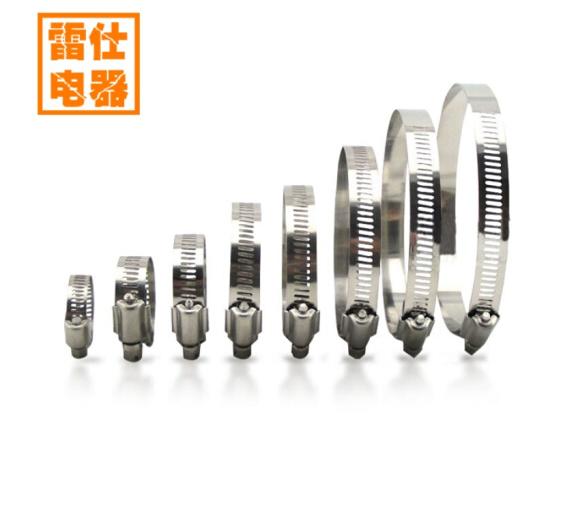 ASCARI với nhựa Thay 304 rổ thép không gỉ quạt xả nước sửa ống ôm cái vòng kẹp ống thẻ 84-108MM rổ