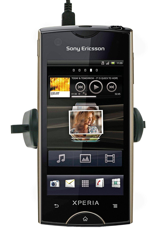 Kit rayho lgpc xe Charger và đường dây điện bao gồm khung áp dụng cho Sony Ericsson Xperia ray đen.