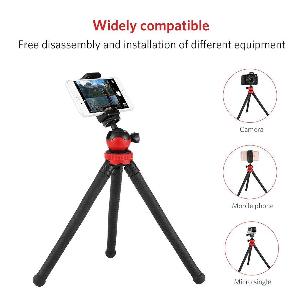 Máy ảnh kỹ thuật số   Moreslan camera điện thoại giá ba chân kiềng ba chân đàn hồi du hành điều chỉ