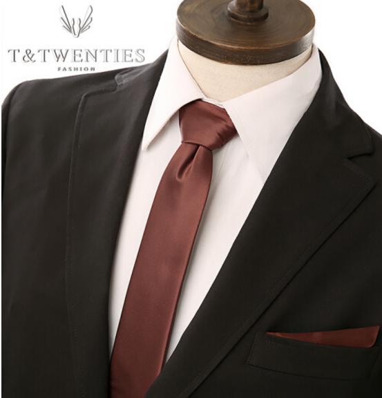 T&Twenties T&Twenties cà - vạt túi cân bộ 6cm hẹp kết hôn người đàn ông cưới chú rể bộ cài áo ng