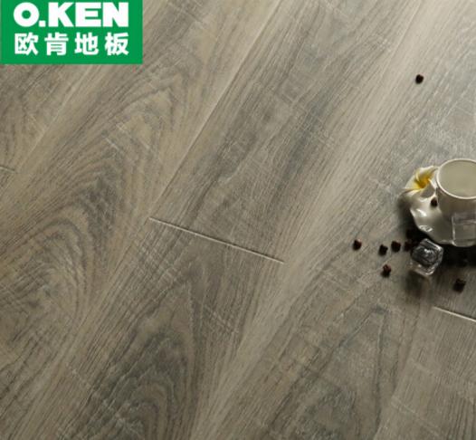O.KEN (O.KEN) xăm tay bắt sàn tăng cường hợp sàn gỗ đen trắng xám trên sàn. Sàn gỗ 6225