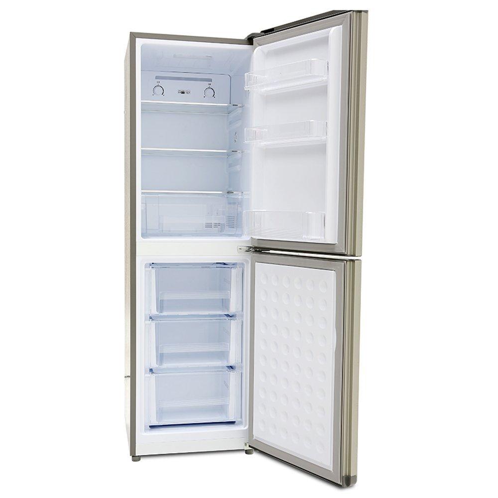 Tủ lạnh  Frestec BCD 200wku2c 200 lít hai cổng điện tử định tần số rã đông bạc cổ điển kiểu tủ lạnh