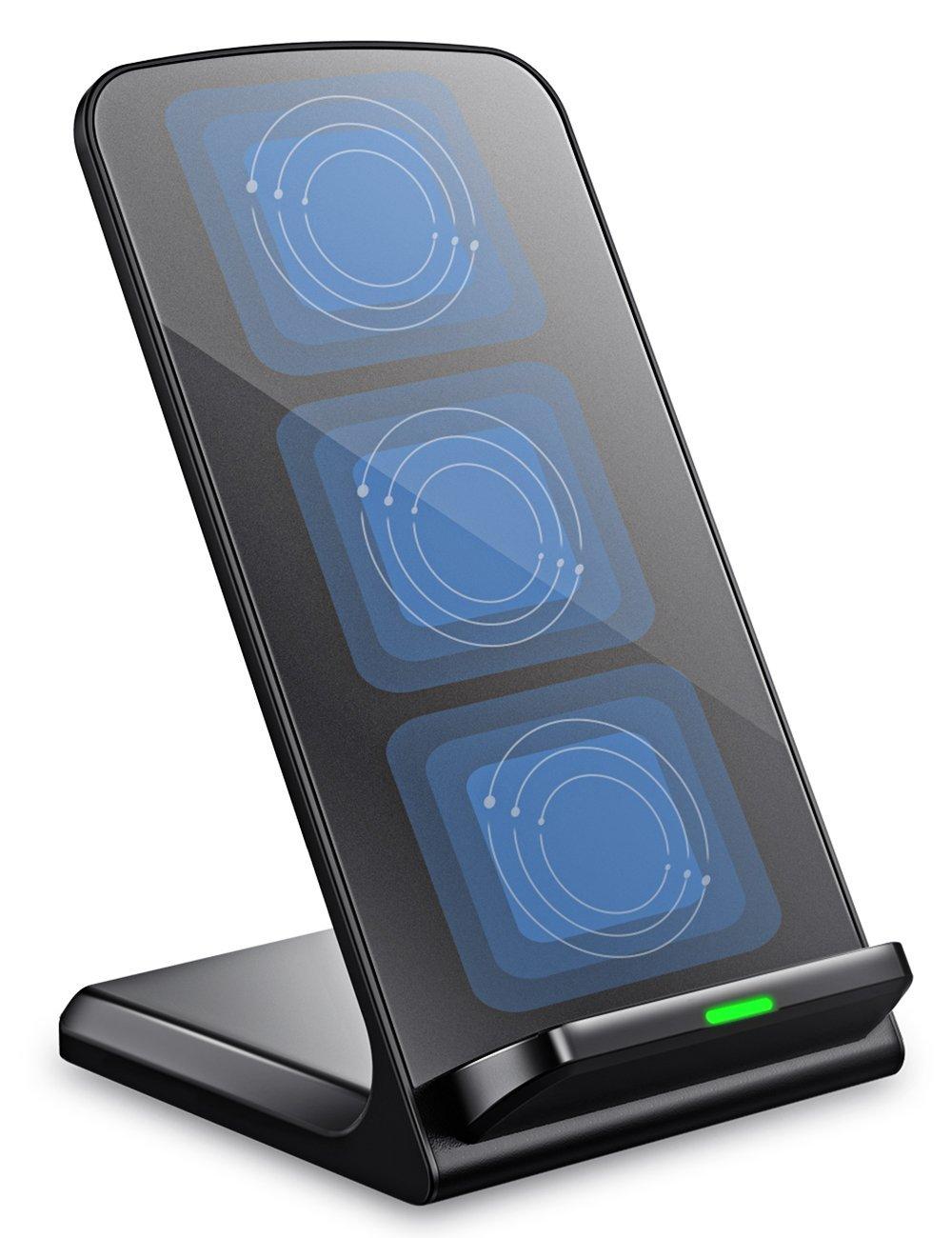 Turbot sạc không dây sạc không dây, 3-coil QI đứng PAD Samsung Galaxy S8, S8 PLUS, S7, S7 Edge, S6 E