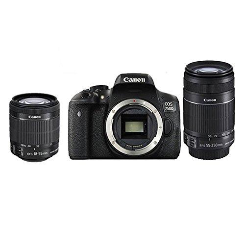Canon Canon EOS 750D vào cửa máy ảnh kỹ thuật số, máy ảnh độ nét cao (hai phát Edition [18-55 và 55-
