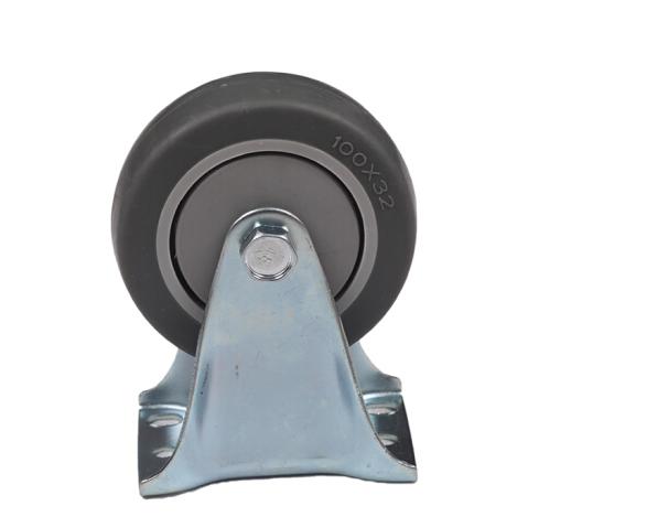 XRWJ Bánh xe hướng trục Vòng cố định bánh xe cao su / / câm bánh xe / xám TPR