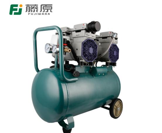 fujiwara Báo chí bơm hơi trống nhỏ dầu máy nén khí không câm 220V Mộc Sơn chạy máy bơm 9L-50L 1500W