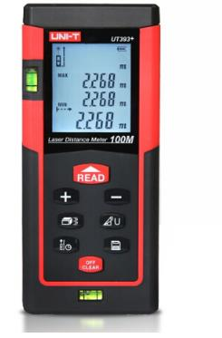UNI-T rangefinder tia laser hồng ngoại với máy đo điện điện tử máy đo lượng mô hình 390B+ feet.
