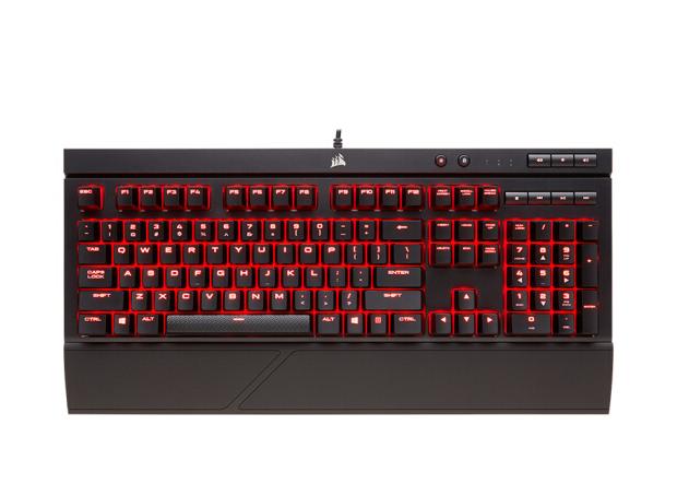 USCORSAIR thuyền hải tặc (USCORSAIR) K68 bàn phím máy trục cherry đỏ đen đỏ che bóng chống bụi chống