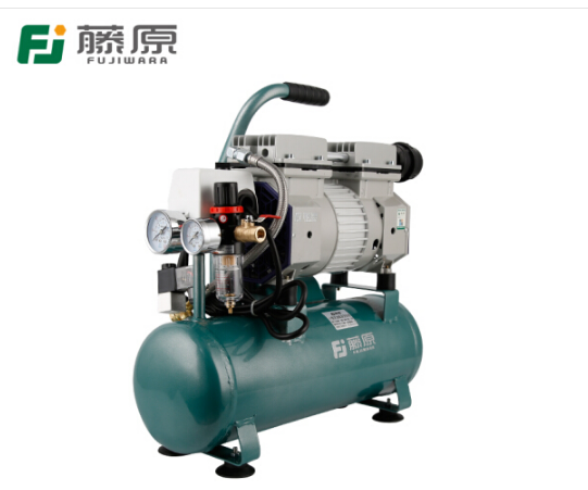 fujiwara Báo chí bơm hơi trống nhỏ dầu máy nén khí không câm 220V Mộc Sơn chạy máy bơm 24L 580W 9 lí