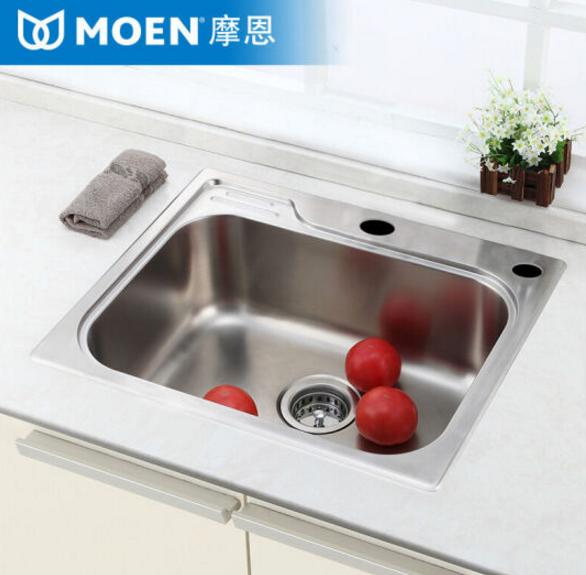 MOEN (MOEN) trong một bộ đồ thời trang A 304 thép không gỉ bồn rửa bát giặt món ăn xác thối ướp kéo
