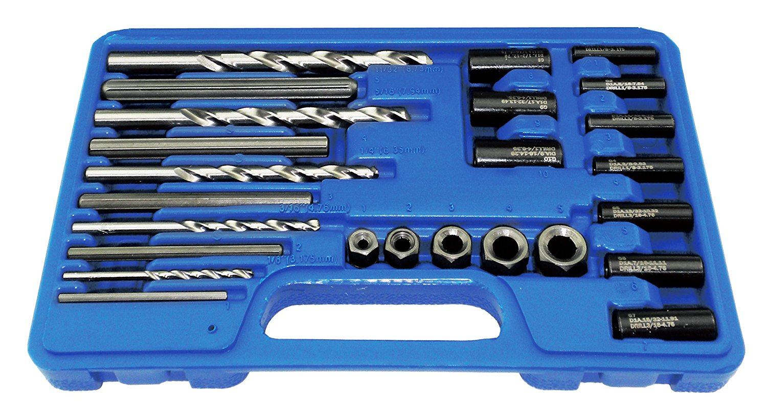 Astro 9447 Screw Extractor/Drill and Guide Set, 25-Piece
