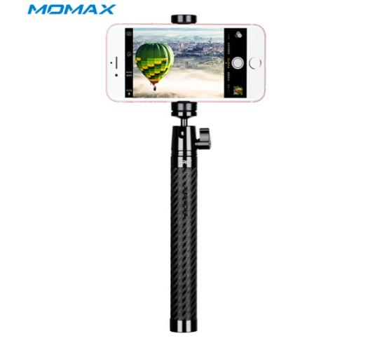 MOMAX (MOMAX) sợi các - bon Bluetooth chụp tự sướng, thanh nhẹ gấp gậy hỗ trợ tự chụp ảnh Bluetooth