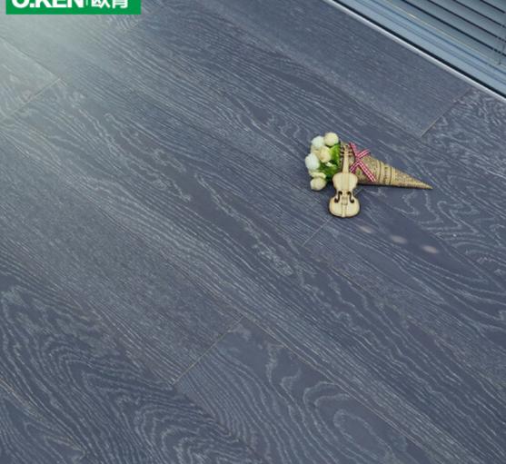 O.KEN tiền dày Ốp sàn gỗ. sàn nhà sản xuất xám đen kết hợp bảo vệ môi trường không thấm nước 8006 sà