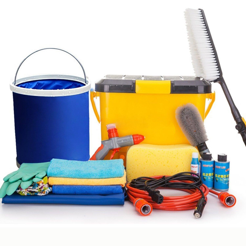 IGEG yêu rửa xe máy, súng phun nước cao áp xe sạch rửa xe kết hợp Bộ Công cụ (khăn + ly nước + bọt b