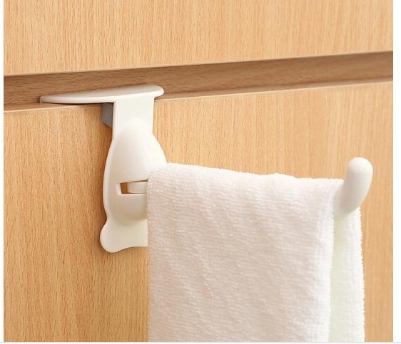 FaSoLa nhựa Đồ dùng nhà bếp không sáng tạo lỗ quay đằng sau cánh cửa nóc nhà, ngăn kéo tủ quần áo m
