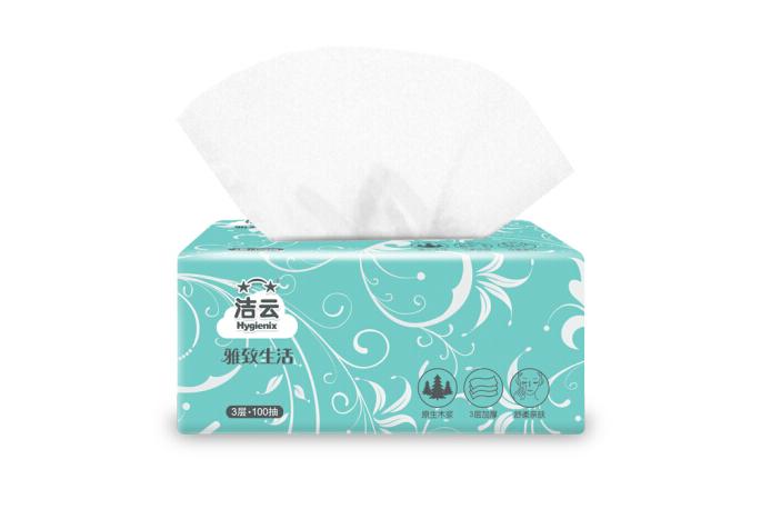 Hygienix Sợi len (Hygienix) hút giấy sống 3 tầng 100 elegans mềm giấy gói hút hút 27 ( bán)
