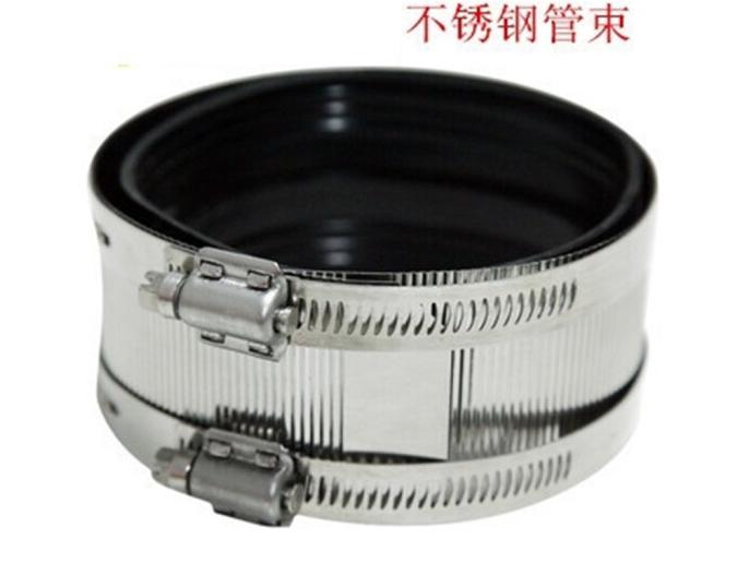 BUBUNIU Sắt Thép không gỉ kềm chế tổng thành clip thoát nước giao diện gang tính dẻo đai 8 inch (DN2