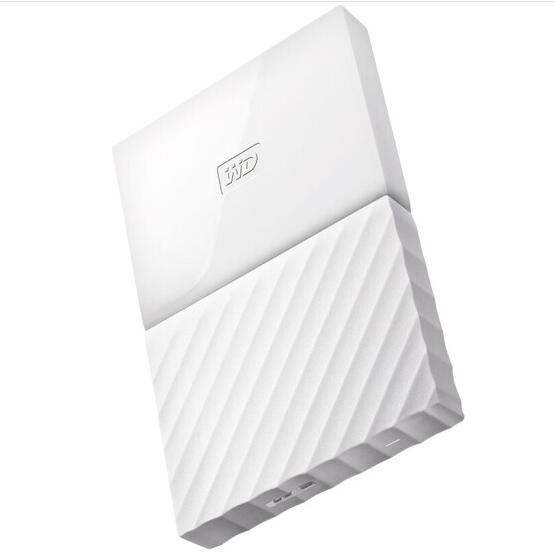 WD Dữ liệu về phía Tây (WD) Thưa Passport 1TB 2.5 inch tỏa sáng trắng WDBYNN0010BWT ổ cứng di động.