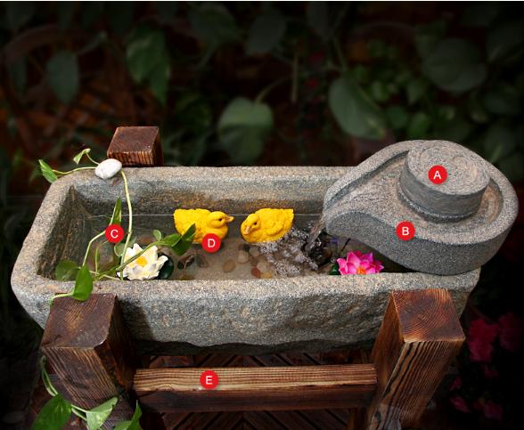 QI QI GE Chống ăn mòn nhựa cây cối giã Thạch rãnh đồ trang trí lễ tân gia bể cá suối nước đồ trang t