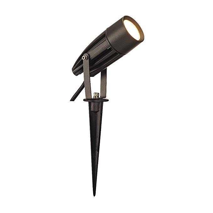 SLV syna LED, đứng lên đến 3000 K, hợp kim nhôm / thủy tinh, 8,6 W, than đen, 14,5 x 5,4 X 10 cm