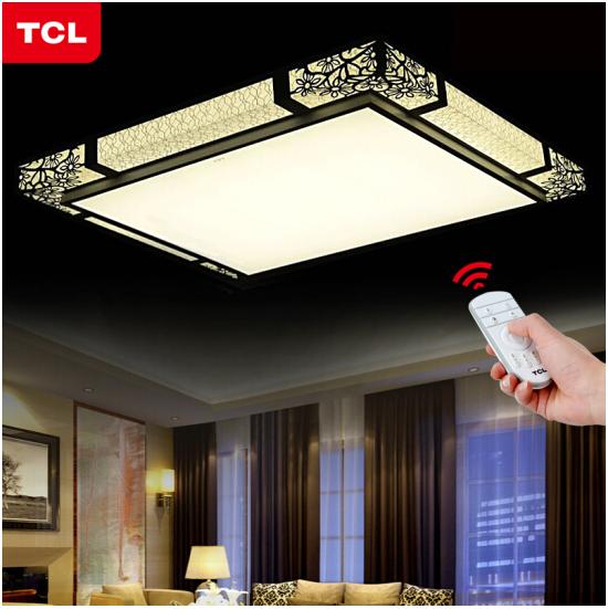TCL đèn phòng khách phòng ngủ LED hút ánh sáng đèn hướng dẫn hiện đại hình chữ nhật đơn giản. Đèn gó