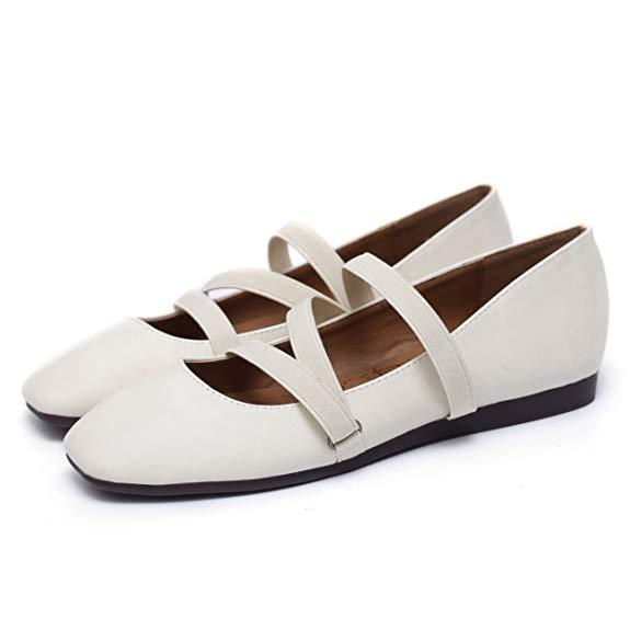 Giày búp bê nữ đế bằng Teahoo