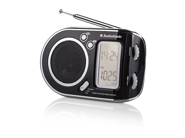 AudioSonic AudioSonic RD - 1256 Portable radio FM / SW MW / 1 - 7 màu đen.