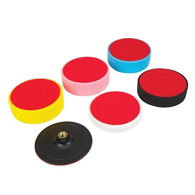 SILVERLINE 285024 Bộ phận làm bằng bọt biển bóng mượt Velcro (Bộ 6)